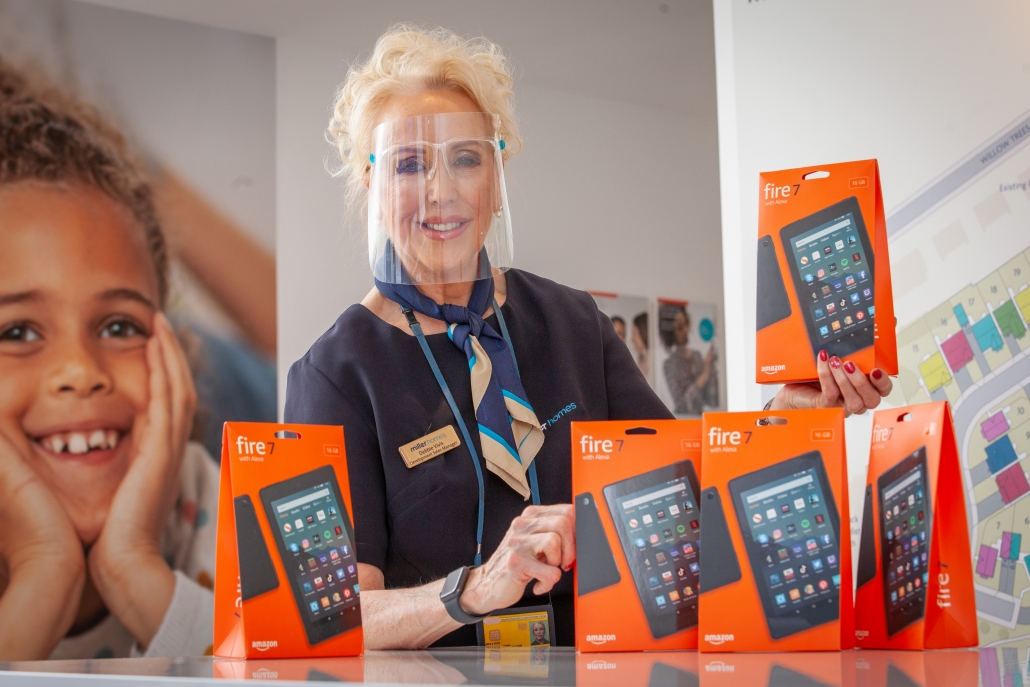 Donation of fire tablets by Miller Homes 1