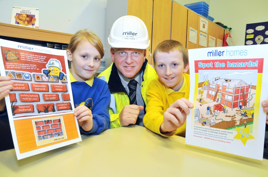 H&S talk at school by Miller Homes
