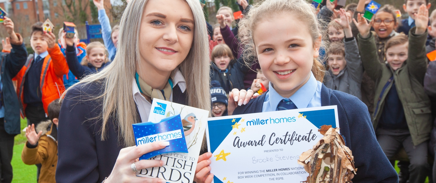 Nest box competition by Miller Homes