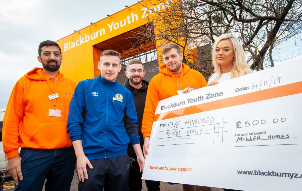 Youth Zone donation in Blackburn by Miller Homes